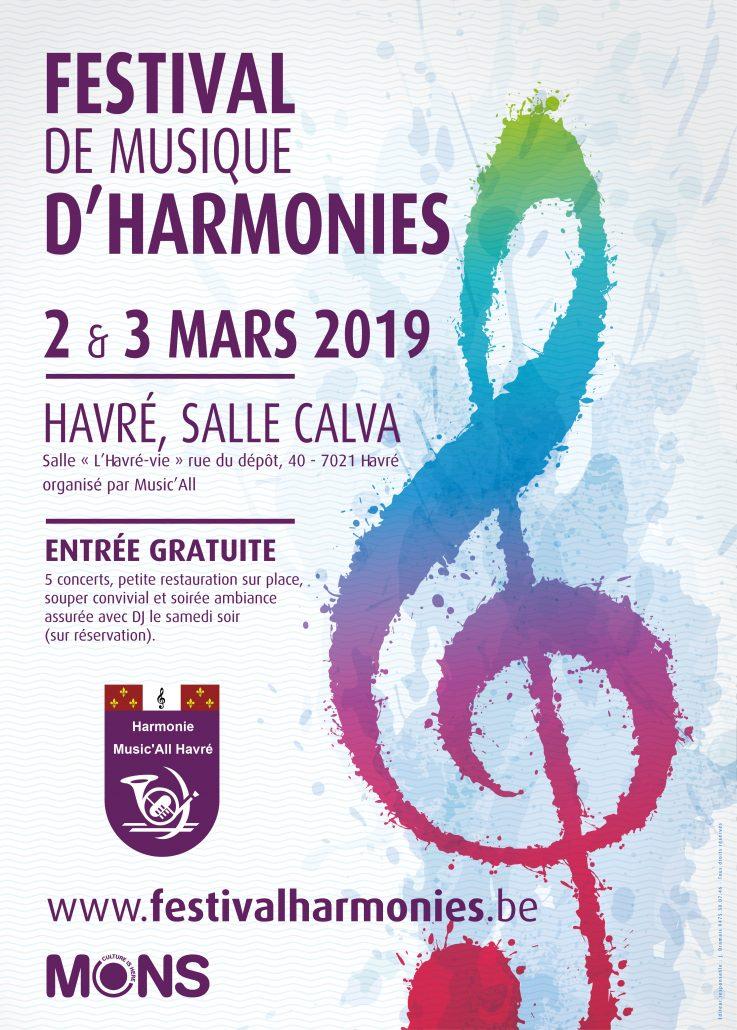 Affiche Festival de musique d'harmonies 2019